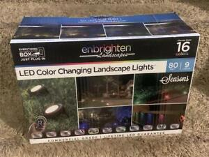 💥 Enbrighten 9-Bulb 80 ft. Bronze Outdoor Color Changing Landscape Path Lights