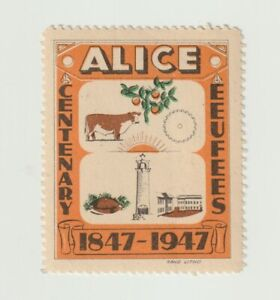 South Africa- Alice Centenary 1847-1947 poster stamp MUH