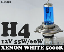 1 x H4 60W / 55W 12V Xenon White 5000k Halogen Car Head Light Globes Bulbs Lamp