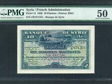 Syria:P-12,10 Piastres 1920 * Shepherds * RARE * PMG AU 50 *