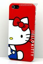 for iphone 5 5s cute kitten red white blue shirt hard back case with bow
