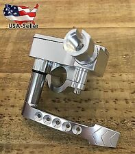 BILLET THUMB THROTTLE ASSEMBLY FOR YAMAHA BANSHEE YFZ RAPTOR 350 660 700 SILVER