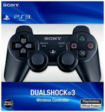 SONY PLAYSTATION 3 DUAL SHOCK SIXAXIS PS3 CONTROLLER BLACK