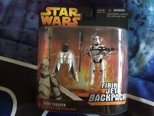 Star Wars Revenge of the Sith Clone Trooper with Firing Jet BackPack Hasbro