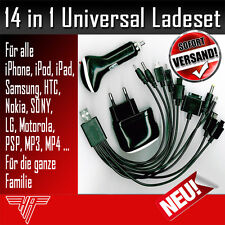 Universal Handyakkuladegerät 14in1 Ladeset iPhone Samsung Sony LG HTC Nokia