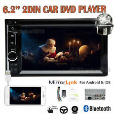 6.2inch 2din Car Stereo Auto Radio Mirror For GPS Android BT W/Backup Camera