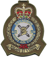 No. 656 Squadron British Army Air Corps AAC Crest Olive MOD Embroidered Patch