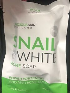 2x Snail White Acne Soap Power Whitening And Anti Acne Soap.70g