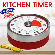 Kitchen Timer 60 Minutes Visual 8CM Timers Oven Magnetic Counter Mechanical Time