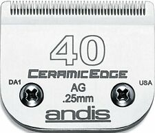 Andis 64265 #40 CeramicEdge Carbon-Infused Steel Pet Clipper Blade Size 40 1/100