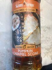 Jordan's Skinny Syrup Sugar Free Pumpkin Caramel Scone 25.4 Oz LIMITED EDITION