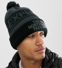 The North Face Retro Pom Winter Beanie in Grey