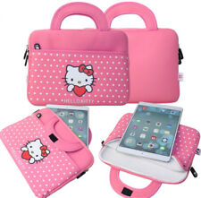 """Pink Cute Hello Kitty 10.5"""" Tablet Case Sleeve Carry Bag Cover For iPad Samsung"""