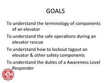 Elevator Technical Rescue Awareness Ppt Training Presentation