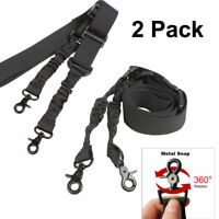 2X Rifle Sling Heavy Duty 2 Point Strap Gun Tactical Swivel Adjustable Bungee QD