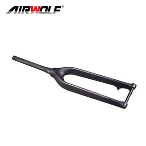 29er Carbon Fiber Mtb Bicycle Tapered Rigid Thru Axle Disc Fork 3K/UD Black