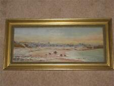 Original Painting of Cemaes Bay Harbour Anglesey  1800's. - RARE ORIGINAL.