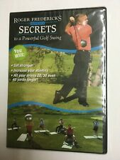 Roger Fredericks Reveals Secrets to a Powerful Golf Swing Dvd Sealed