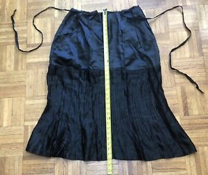 Dracula Clothing Black Steam Punk Goth Heavy Cotton Skirt Size Large Womens