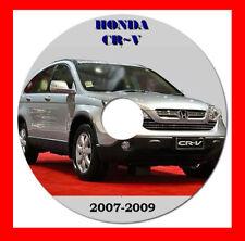 HONDA CRV 2007 - 2009 WORKSHOP SERVICE REPAIR MANUAL ON CD OR DOWNLOAD