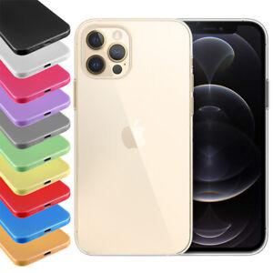 """Ultra Slim Case iPhone 12 Pro Max 6,7"""" Matt Clear Schutz Hülle Skin Cover Folie"""