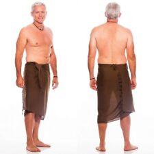 1 World Sarongs Mens Light Brown Mens Sarong Wrap Lava Lava Sulu Toga