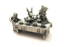 The Mad Hatters Tea Party Thimble Diorama Pewter Collectible Gift NEW