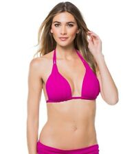 042174ee0f8 La Blanca Women s Island Goddess Rouched Halter Bikini Swimsuit Top Magenta  12