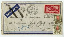 Indo china Switzerland 1935 Postage due cover from ' LANG-SON- TONKIN 22-11-1935
