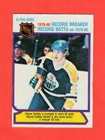 1980-81 O-Pee-Chee OPC  #  3 Wayne Gretzky Record Breaker Nrmnt-mt