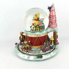 DISNEY WINNIE THE POOH Musical Snowglobe Water TOYLAND Christmas Train RARE