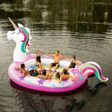 NEW GIANT HUGE INFLATABLE PINK UNICORN PARTY FLOATING ISLAND LAKE RIVER RAFT..