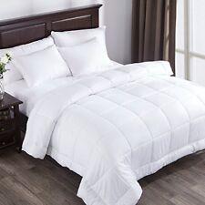 Puredown Alternative Comforter White Duvet Insert Cotton Shell 300TC King Cal