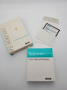 Microsoft MS-DOS 5.0 OEM Operating System 5.25 Floppy Diskette Edition Uniron OS