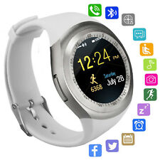 Bluetooth Smart Watch Round Touch Screen SIM TF Slot for Android Samsung LG OPPO