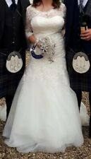Wed2Be Wedding Dress With Vintage Lace Appliques & Sparkly Beaded Detail 14/16