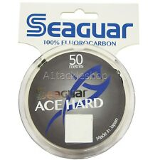 Seaguar Ace Hard 50m Fluorocarbon Trout & Salmon Fly Fishing Leader Tippet Line
