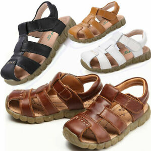 Boys Girls Kids Closed Toe Beach Casual Shoes Slingback Walking Sandals Summer