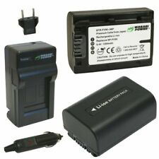 Wasabi Power Battery (2-Pack) and Charger for Sony NP-FV30, NP-FV40, NP-FV50