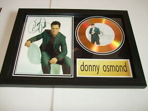 DONNY OSMOND   SIGNED   GOLD DISC  DISPLAY 8