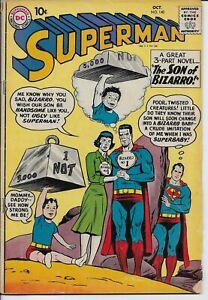 """DC  superman # 140  Oct. 1960 - """"The Son Of Bizarro"""""""
