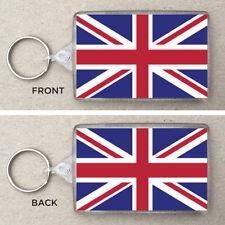 Union Jack Flag Large Keyring & Bag Tag Great Britain, UK