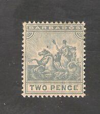 Barbados #95 (A8) FVF MINT OG - 1909 2p Badge Of Colony