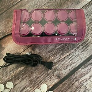 "Remington 10 Compact Ionic Ceramic 1"" Hot Rollers Travel case"