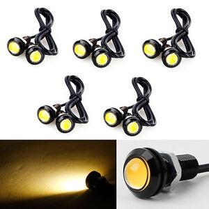 10Pcs Eagle Eye LED Car Daytime Running DRL Tail/Head Light Side Marker Amber