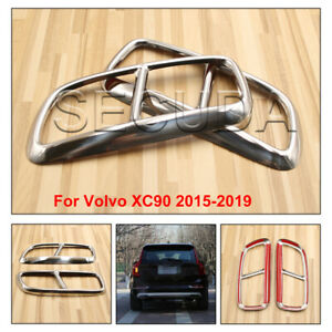 2x Silver Exhaust Pipe Tips Cover For Volvo XC90 2015-2019