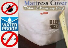 "Royal Silkâ""¢ Heavy Vinyl Zippered Mattress Cover 100% Waterproof & Bed-Bug Proof"