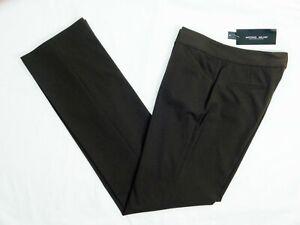 NWT Antonio Melani Maxine Women Chocolate Brown Straight Leg Pant Size 0 $119