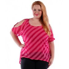 Womens Magenta Pink Open Shoulder Top with cami Yummy Plus Size 3X