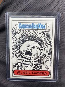 2014 Topps Garbage Pail Kids Series 2 Neil Camera Sketch Card #'D 1/1